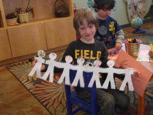 people paper chain
