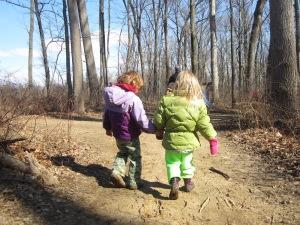 friends on a winter hike