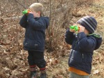 we use binoculars to search for birds