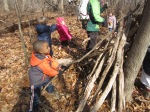 we use branches to make our own shelter