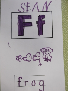 F is for frog