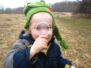using a magnifier