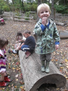 playing in the Outdoor Classroom