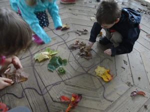 sorting fall clues by color